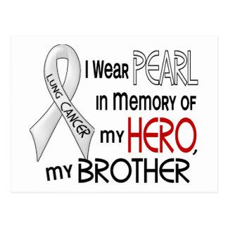 Perla en memoria de mi cáncer de pulmón de Brother Postales