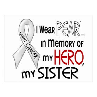 Perla en memoria de mi cáncer de pulmón de la herm tarjeta postal