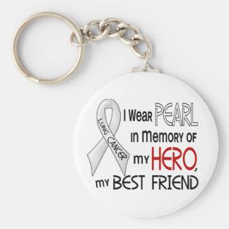 Perla en memoria de mi cáncer de pulmón del mejor  llaveros personalizados