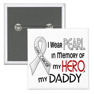 Perla en memoria de mi cáncer de pulmón del papá pins