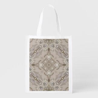 perla femenina del cordón del diamante artificial bolsa de la compra
