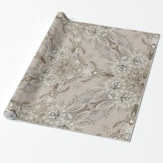 perla femenina del cordón del diamante artificial papel de regalo