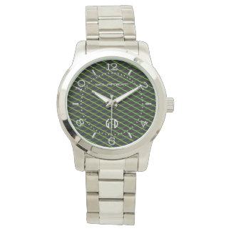 Perla industrial personalizada del verde de la relojes de pulsera