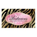 Perla iridiscente de la cebra Bodacious del boutiq Plantilla De Tarjeta De Visita