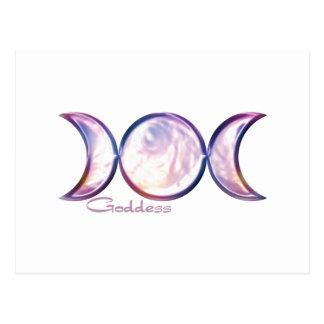 perla iridiscente de la diosa triple de la luna tarjetas postales