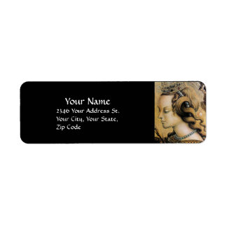 Perla negra NATURAL de la BELLEZA y de la JOYERÍA Etiqueta De Remite