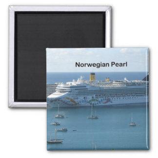 Perla noruega imán cuadrado
