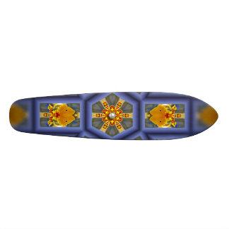 Perla tropical de la orquídea skate board