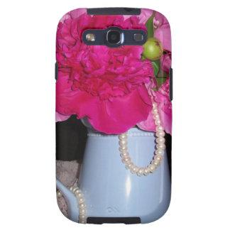 Perla y cordón de los Peonies Samsung Galaxy S3 Protector