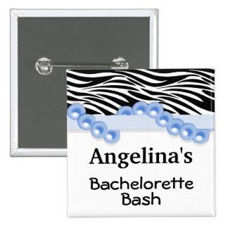 Perlas azul marino y favor de fiesta de la huésped pin