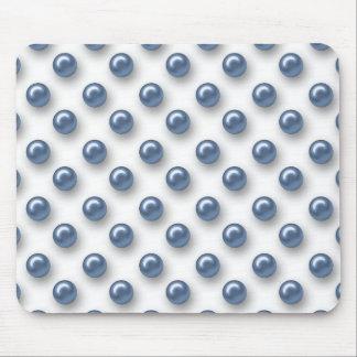 Perlas azules hermosas elegantes tapetes de raton
