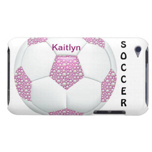 Perlas blancas en balón de fútbol rosado Case-Mate iPod touch carcasa