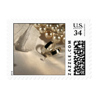 Perlas del boda de la postal franqueo