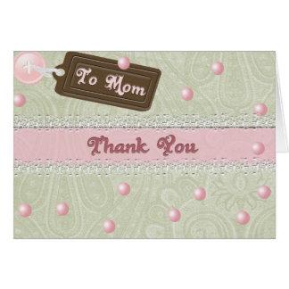 Perlas del día de madre tarjeta de felicitación
