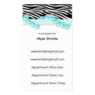 Perlas del trullo y tarjetas del registro de regal tarjeta de visita