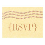 Perlas elegantes que casan la postal de RSVP, Cham