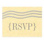 Perlas elegantes que casan la postal de RSVP, marf