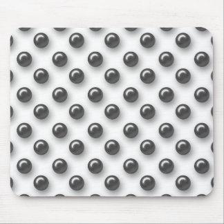 Perlas negras hermosas elegantes mousepad