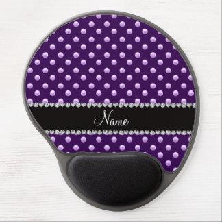 Perlas púrpuras conocidas personalizadas alfombrilla de raton con gel