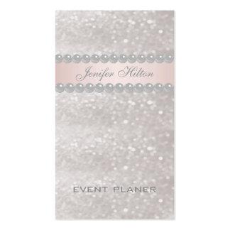 Perlas relucientes modernas elegantes tarjeta de visita