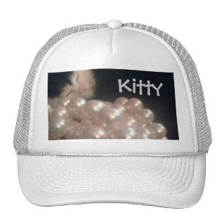Perlas retras de la antigüedad del gatito de la pi gorras de camionero