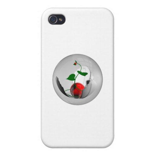 Perlas rojas iPhone 4/4S fundas