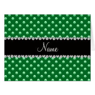 Perlas verdes conocidas personalizadas