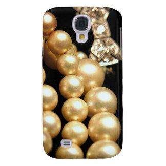Perlas y caja del teléfono de los diamantes funda para galaxy s4