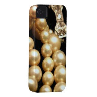 Perlas y casamata de los diamantes iPhone4 Case-Mate iPhone 4 Cobertura
