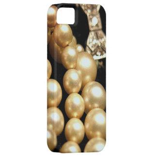 Perlas y casamata de los diamantes iPhone5 iPhone 5 Carcasas