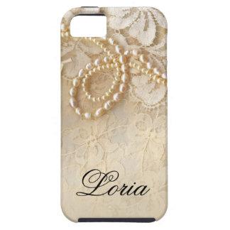 Perlas y cáscara de huevo de la firma el   del iPhone 5 carcasas