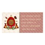 Perlas y conejitos tarjeta fotografica personalizada