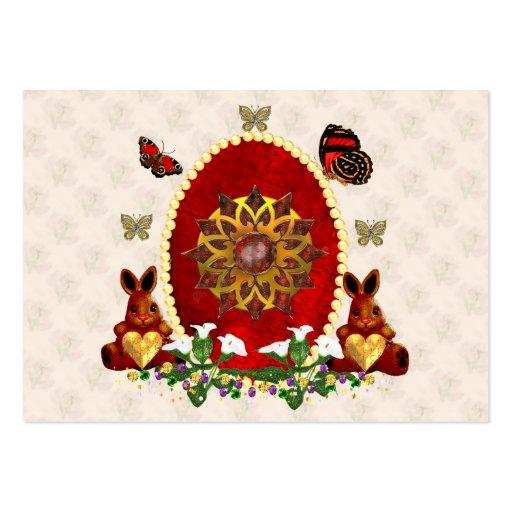 Perlas y conejitos tarjetas de visita