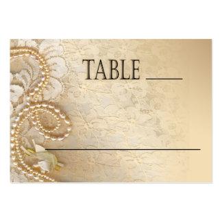Perlas y cordón de Shayla que casan la tarjeta del Tarjetas De Visita