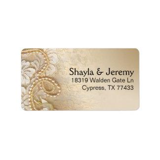 Perlas y cordón de Shayla que envían la cáscara de Etiquetas De Dirección