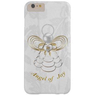 Perlas y oro - ángel metálico del navidad de la funda de iPhone 6 plus barely there