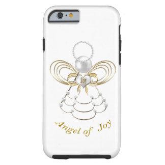 Perlas y oro - ángel metálico del navidad de la funda de iPhone 6 tough