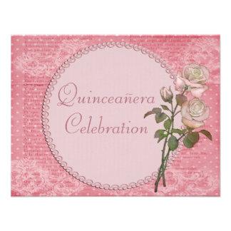 Perlas y rosas elegantes lamentables Quinceanera d Comunicados
