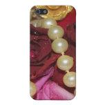 Perlas y rosas iPhone 5 carcasas