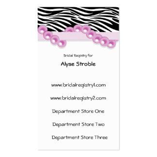 Perlas y tarjetas rosas claras del registro de reg