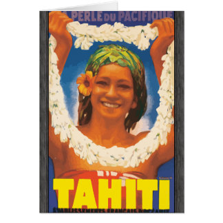 Perle Du Pacifique Tahiti, Vintage Greeting Card