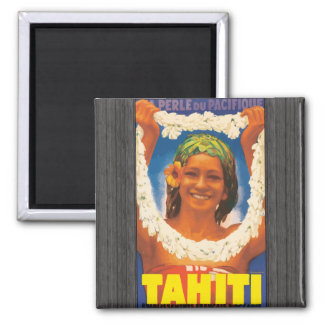 Perle Du Pacifique Tahití, vintage Imán Cuadrado