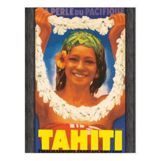 Perle Du Pacifique Tahití, vintage Tarjeta Postal