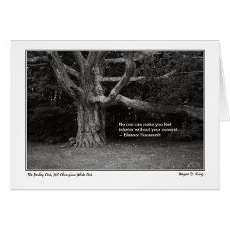 Perley Oak Monochrome  Eleanor Roosevelt Card