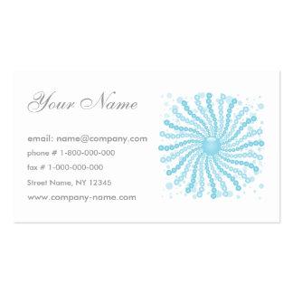 Perls - Blue Double-Sided Standard Business Cards (Pack Of 100)