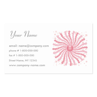 Perls - Pink Double-Sided Standard Business Cards (Pack Of 100)