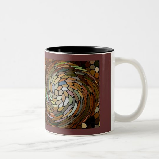 Perl's Swirl Two-Tone Coffee Mug