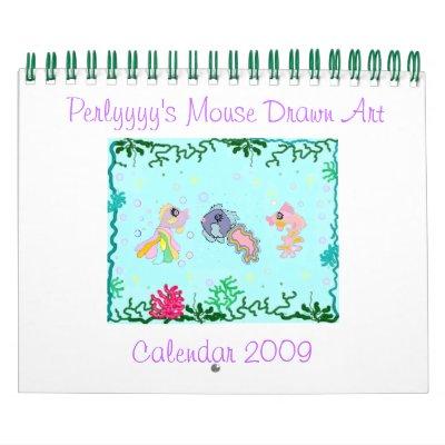 Perlyyyy's Mouse Drawn Art Wall Calendar