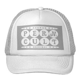 PERM CULT - I Love Curly Permed Hairstyle, White Trucker Hat