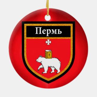 Perm Flag Ceramic Ornament